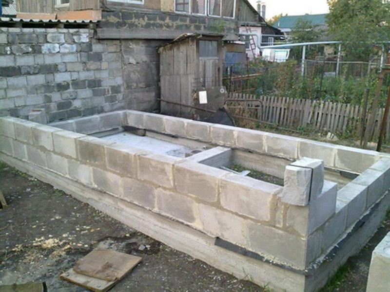 Строительство бани из пеноблоков цена
